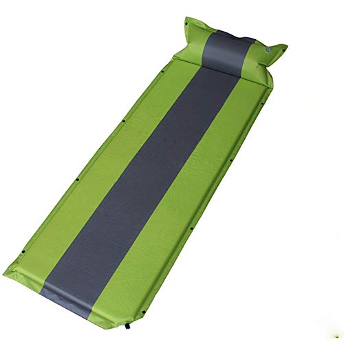 Inflatable Camping Mattress Thicken Sleeping Mat 1.1 Inch Portable Sleeping Pad for Backpacking Car Traveling Beach Self Driving Tour,Green,5CM