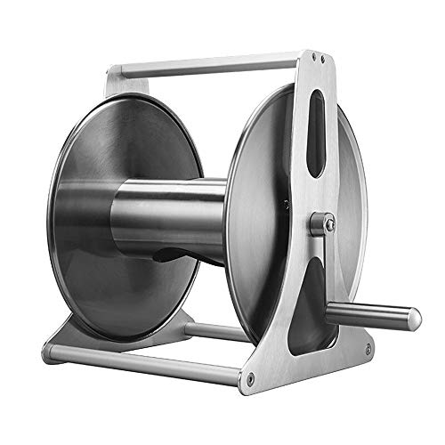 Garden Hose Holder Garden Hose Reel Stand Water Pipe Storage Rack Metal Strong Structure Suitable For Home Garden Hose Reel Cart Wall (Color : Black, Size : 41x27x20cm)