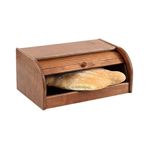 Portapane. in legno naturale betulla color noce, prodotto in ITALIA