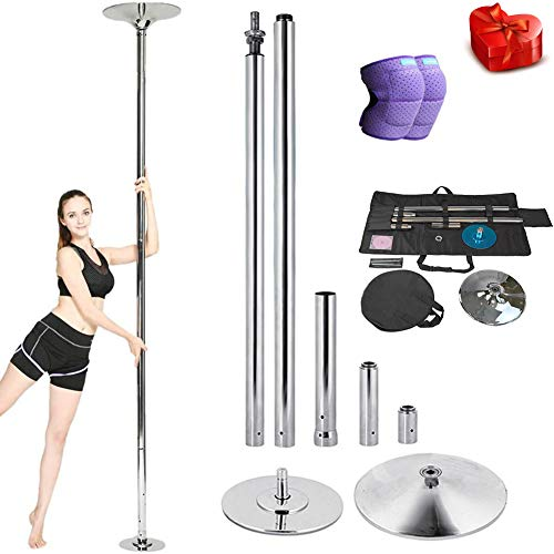 DSYYF Tragbare Tanzstange Kit Stripper Pole mit Tasche, Professional Removable Spinning und statische Stange für Party Exercise Club,M