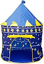 Mongolia Kids Foldable Castle Tent Folding Children Outdoor Camping Playing Toy For Children Cubby House Tent Toys -Blue