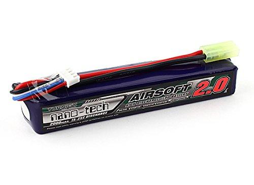 Turnigy nano-tech 3S 15-25C Lipo - Batería para airsoft (2000 mAh, 3S, 15-25 C)