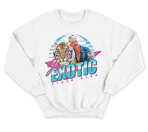 Joe Exotic Tiger King White 80s Graphic Sweatshirt, Adults S to XL