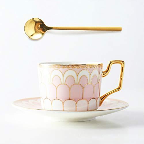 MSNLY Europese koffie kopje en schotel set meisje hart Scandinavische stijl thuis bot china Engels middag thee net rood ins cup