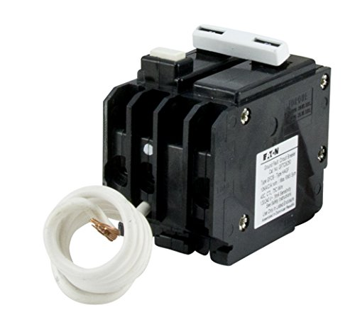 Eaton GFTCB250 Plug-On Mount Type GFTCB Ground Fault Circuit Breaker 2-Pole 50 Amp 120/240 Volt AC