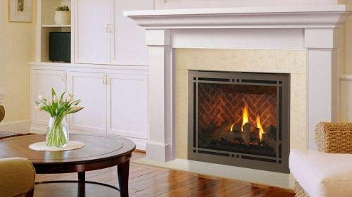 New Monessen 42 Meridian Platinum DV Gas Fireplace w/Bronze Contemp. Front - NG