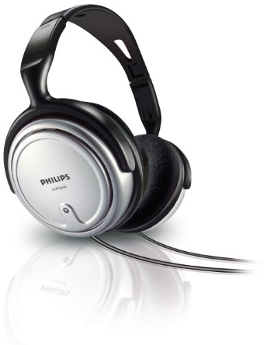 Philips SHP2500/10 HiFi TV Kopfhörer mit Kabel (Exzellenter Sound, Geräuschisolation, 6 m Kabel) Silber/schwarz & Thomson TV-Kopfhörer mit langem Kabel (8m Kabellänge, 3,5mm Klinkenstecker) schwarz