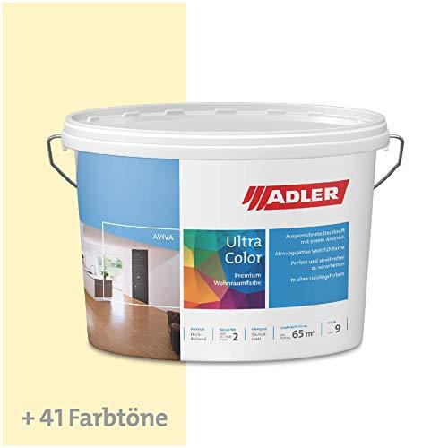 ADLER Ultra-Color Wandfarbe - Volltonfarbe und Abtönfarbe in 100+ Farbtönen - Sand C12 025/6 Gelb 1 l Atmungsaktiv, Hochdeckend, Lösungsmittelfrei