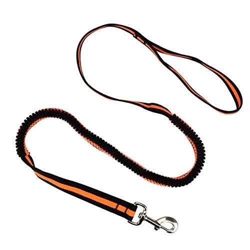 Hondenriem, oranje nylon voor honden, elastische hondenriem voor puppy's, om te wikkelen, voor honden, anti-ash-lijn voor het trekken van de draad van de hond, M