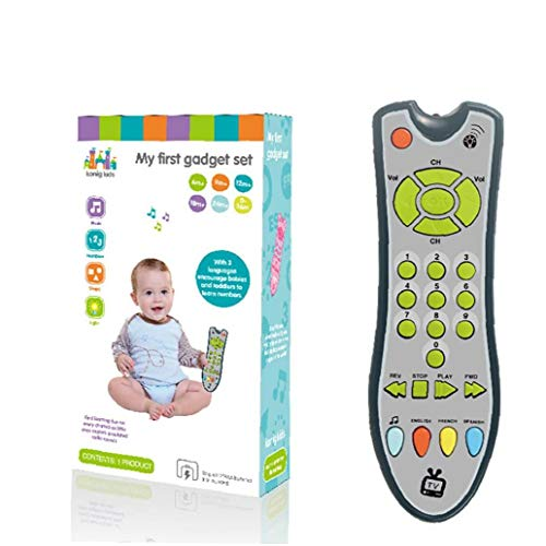 Baby-Fernbedienung Spielzeug Tv-Fernbedienung Infants Ton Musik Lernen Spielzeug Frühes Pädagogisches Spielzeug Für 1-3 Jahre Altes Baby Jungen Und Mädchen Grau 1pc