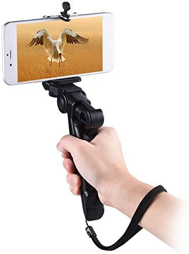 Andoer Handy Stativ Mini Stativ mit Universal Smartphone Klemme ständer Stützhalter Handgriff Stabilisator mit Smartphone Clip Halterung für iPhone für Samsung Galaxy für Handy