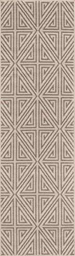 momeni Teppiche baja0baj-4tau6796, Baja Kollektion modernes Indoor & Outdoor Bereich Teppich, leicht zu reinigen, UV-geschützt und farbbeständige, 6'17,8cm X 9' 15,2cm Taupe, 2'3