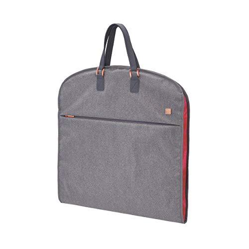 TITAN Kleidertasche mit separatem Wäschefach + Hängevorrichtung, Gepäck Serie BARBARA: Exklusive Garment Bag im eleganten Look, 383301-04, 61 cm, 3,5 Liter, grey (grau)
