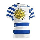 Magnesis Camiseta de compresión de manga corta para hombre de la bandera de Uruguay