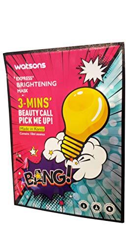 2 Mask Sheets of Watsons Express, Brightening Mask. 3 - Mins