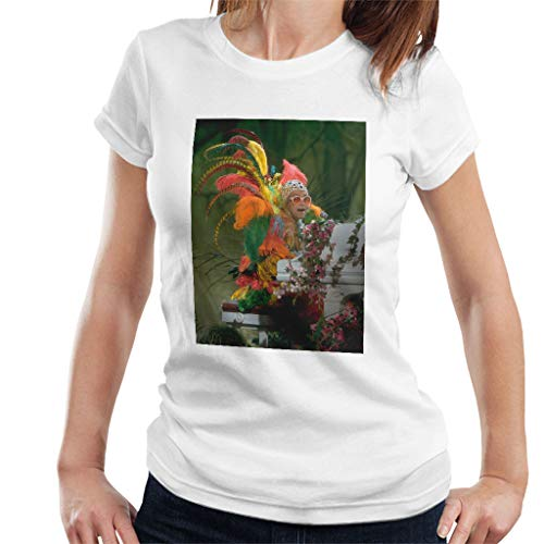 TV Times Elton John Wearing Feathers at The Piano 1978 Vrouwen T-shirt
