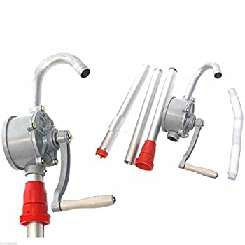 ESKONI Hand Crank Aluminum Rotary Gas Oil Fuel Hand Pump 10 Gpm Self Priming Dispenser