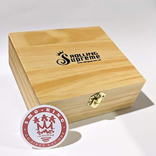 Rolling Supreme massive Kiefer-Box,/Geschenkset von Smo-King Gr/ö/ße T3 zum Zigarettendrehen