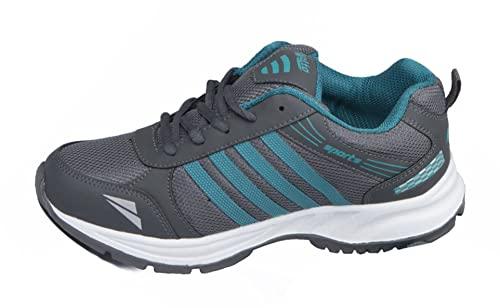 ASIAN Men's Wonder-13 Grey Firozi Sports Running Shoes UK-8