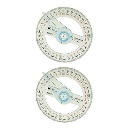 Kreiswinkelmesser Vollkries 360 grad Winkelmesser Schwingen Arm aus Kunststoff - 2 Stück