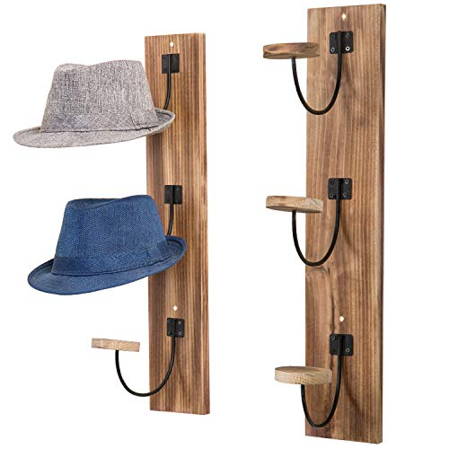 Coat Rack, Coat Hook Wall Supports Over 120 lbs Goods Bamboo Modern Hat Rack for Bags Scarves Clothes Handbag Umbrella for Bedroom Bathroom Made in USA