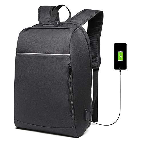 """Danny® Business Anti-Theft con gran compartimiento para computadora portátil para hombres,mujeres, mochilas de viaje resistentes al agua Escuela Bolsa para computadora para portátil de 5.6 """",negro"""