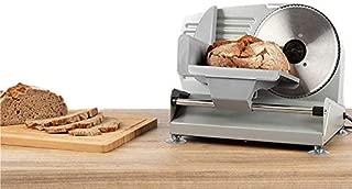 NEWTRY 電動スライサー 小型カッター 半自動 家庭用 業務用 多機能 パン、ハム、チーズ、トースト、果物、野菜、羊肉、牛肉用 スライス厚さ1-15mm調整可能 折り畳み式 レストラン用