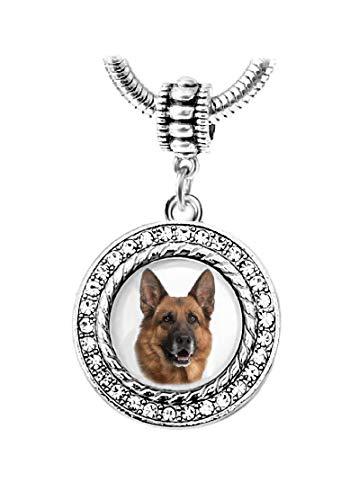 Dangle German Shepherd Dog Charm Bead