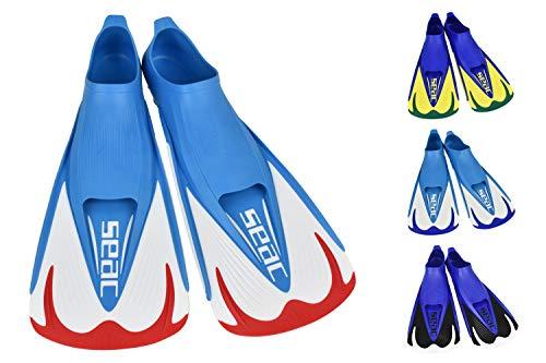 SEAC Team, Pinna Corte per Nuoto in Piscina e Snorkeling Unisex Adulto, Rosso, 40/41 EU