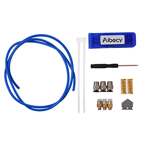 Ptfe Tubing Tube Pipe, Tube Cutter and PTFE Tube ID 2mm OD 4mm Tubing Pipe Kit with Pneumatic Fittings Springs for 3D Printer Accessories