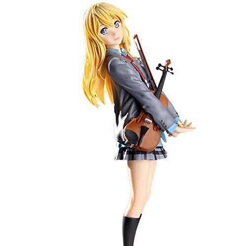 MICOKID Your Lie In April Kaoru Miyazono Violín Tenedor Mano en Caja Anime Personaje Modelo Colección Juguete Regalo Figura de acción Muñeca Decoración de Escritorio Regalo de cumpleaños Decoración