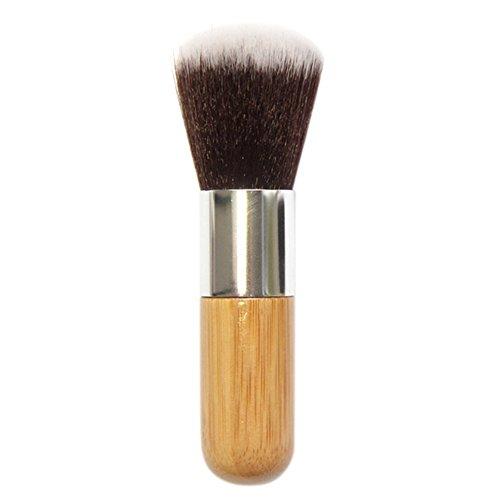 Bodhi2000 ® rond Dessus Plat Poignée en bambou Fond de teint poudre Brosse Cosmétique Outil de maquillage