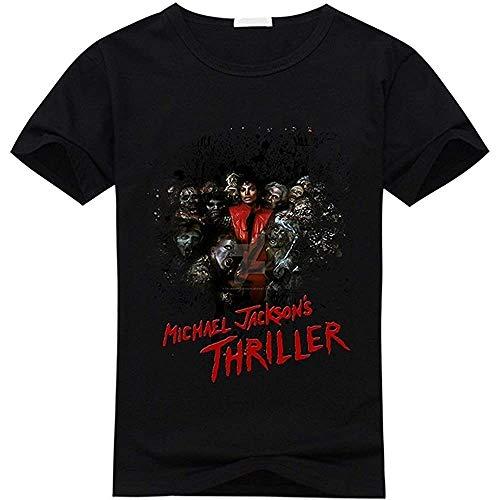Michael Jackson Men's Short Sleeve T-Shirt Black Black, XL