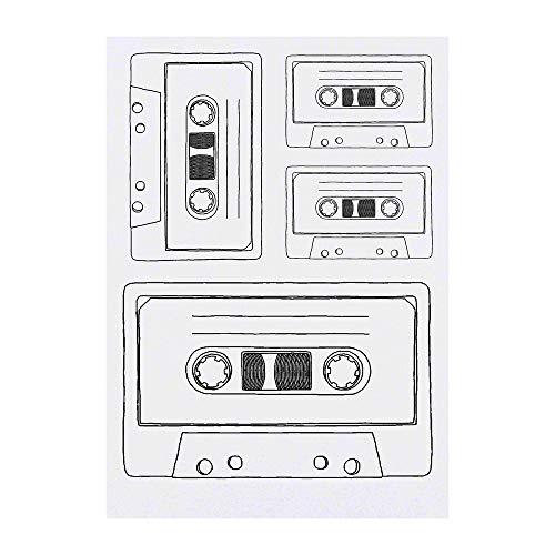 Azeeda 4 x 'Cassette Tape' Temporary Tattoos (TO00035607)