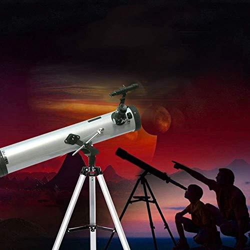 HEZHANG Teleskop Für Kinder Und Anfänger, 76Mm Klare Blende, 700-Mm-Brennweite, Kinder-Ferngläser Für Mond-Exploration Und Vogelbeobachtung, Tragbare, Lunar-Anfänger