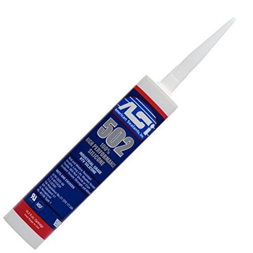 Clear 100% RTV Silicone Sealant - 10.2 Oz Cartridge