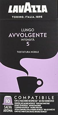 Lavazza Nespresso Compatible Avvolgente Lungo Coffee Capsules (1 Pack of 10)