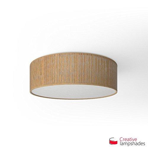 Creatieve lampenkappen Ronde plafondlamp met gele Plissé Organza bekleding Diameter 50cm - H. 15cm