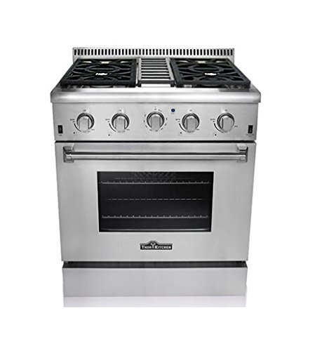 Thor Kitchen HRG3080U 30' Freestanding Professional Style Gas Range with 4.2 cu. ft. Oven, 4...