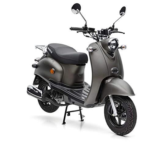 Nova Motors Retro Star ie 50 matt anthrazit Euro 4 45km/h Motorroller - fahrbereite Lieferung inklusive