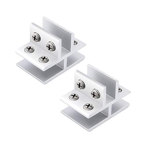 INCREWAY 2 Piezas Soporte de Cristal, Forma de T 10-12mm Ajustable Soporte para Estante de Cristal Abrazaderas de Vidrio