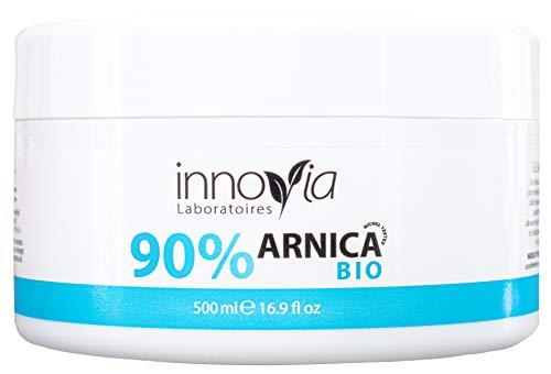 Gel Arnica 90% Biologico Ultra Attivo 500 ml - Forte Azione Lenitiva Efficace contro Contusioni, Ematomi, Dolori Muscolari - Innovia Laboratoires - MADE IN ITALY