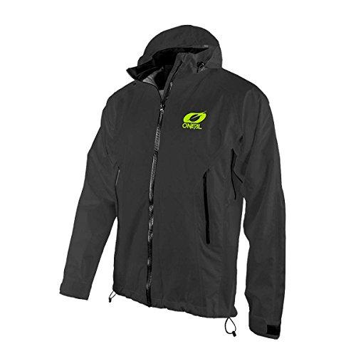 O'NEAL | Mountainbike-Jacke | MTB Mountainbike DH Downhill FR Freeride | Wasserdicht, Unterarmbelüftung, Soft-Touch-Material | Tsunami Rain Jacket | Erwachsene | Schwarz | Größe L
