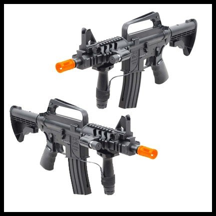 double eagle spring m16a5 assault rifle grip, 240 fps collapsible stock airsoft gun(Airsoft Gun)