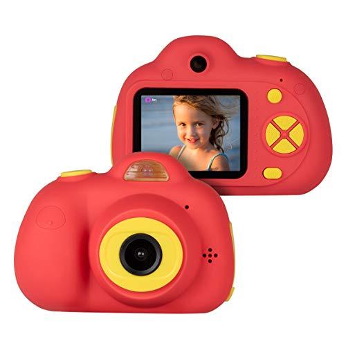 """Upgrow Kinderkamera Digital Kamera D6 Mini Kamera, 2.0\"""" LCD Bildschirm, Front- und Rear-Dual-Kamera, Mini Action Camcorder für Kinder Geschenk und Spielzeug (Rot)"""