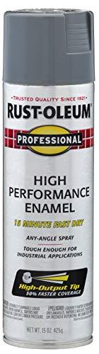 Rust-Oleum 7587838 Professional High Performance Enamel Spray Paint, 15 Oz, Gloss Dark Machine Gray, 15 Ounce