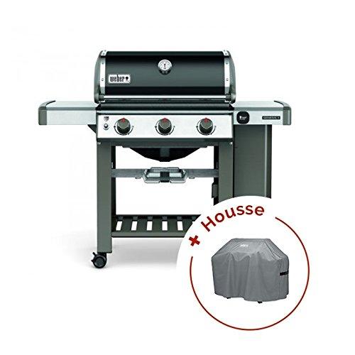 RAVIDAY Pack Barbecue Weber à gaz Genesis II E-310 GBS Black + Housse