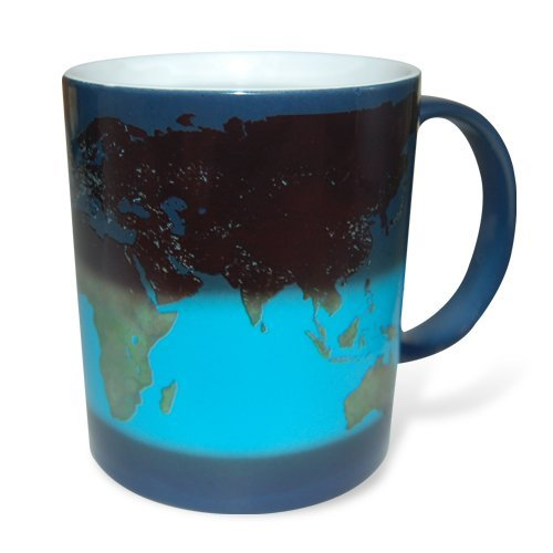 Thumbs up Tasse Weltkarte - Day and Night Becher mit Farbwechsel-Effekt Keramik 300 ml