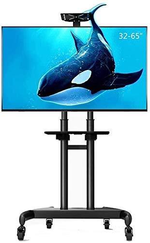Soporte para TV Soporte Estante de almacenamiento Estación de pantalla Soporte para TV móvil Carro Carro y ndash;Carrito alto con monitores rodantes y ndash;Para pantallas de TV LED y LCD HDR de 32-
