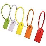 Etichette in Plastica, Etichette di Fascette di Plastica Fascetta Multicolore di Plastica Sigilli di Sicurezza la Logistica per Abbigliamento Scarpe Borse Logistica Trasporto 100 Pezzi (Vari Colori)
